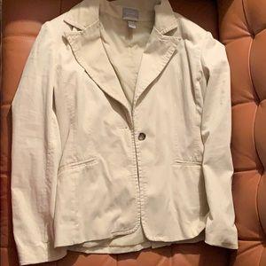 Cream suede old navy blazer